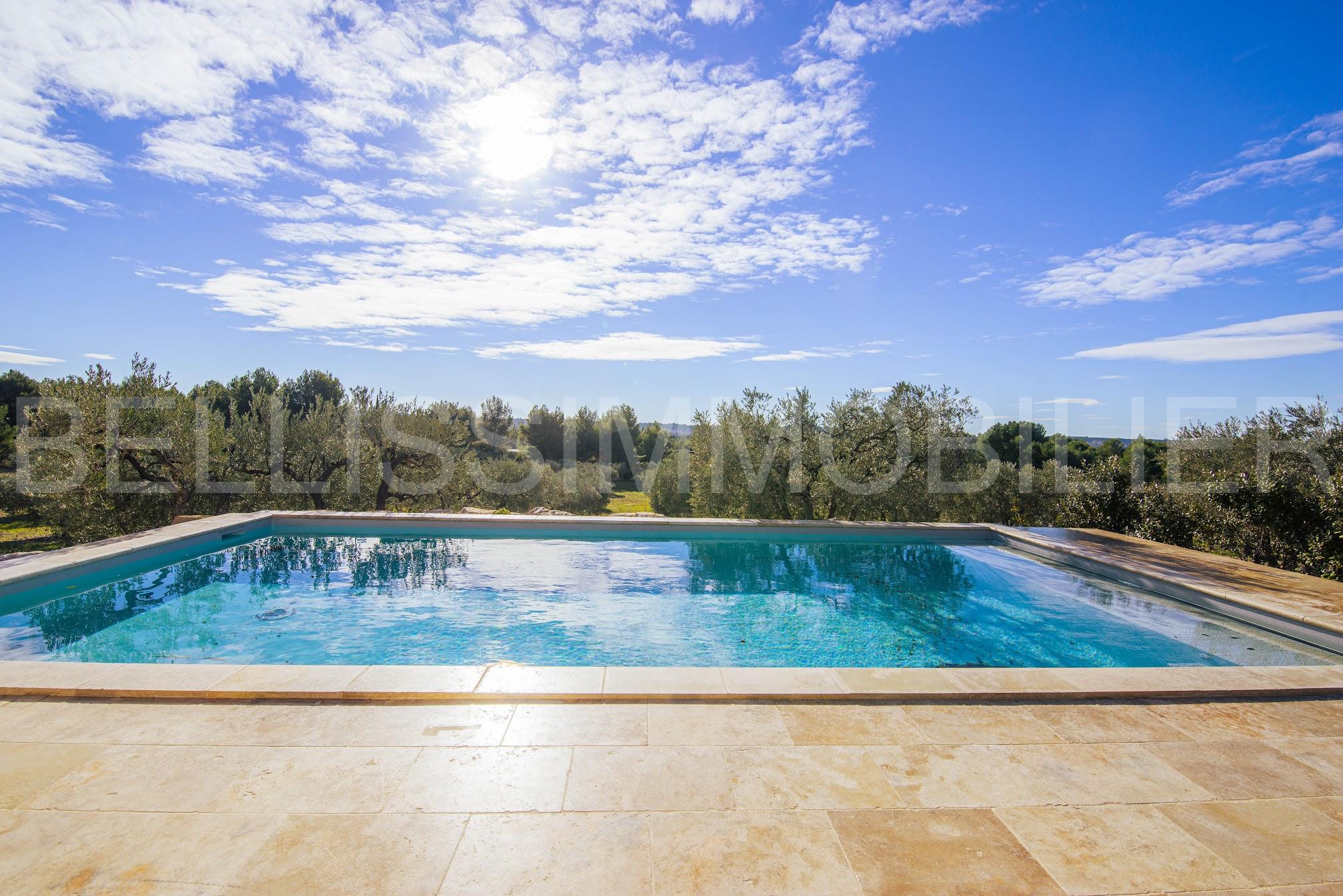 Bastide contemporaine rénovée et piscine surplombant les Alpilles 1540000 Saint-Rémy-de-Provence (13210)
